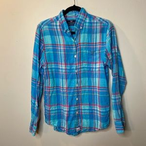 Vineyard Vines Men's XS Murray Shirt Plaid Blue